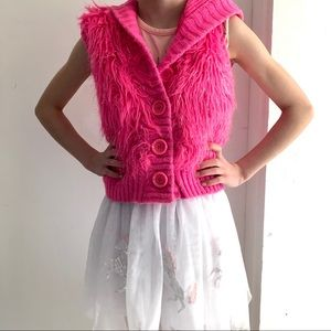 4x$25 Piper Fuzzy Sparkly Hoodie Lined Vest 4/5